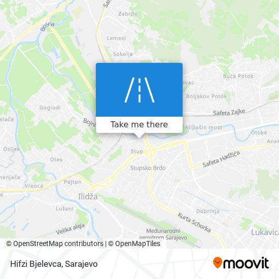 Hifzi Bjelevca map