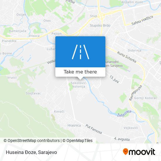 Huseina Đoze map