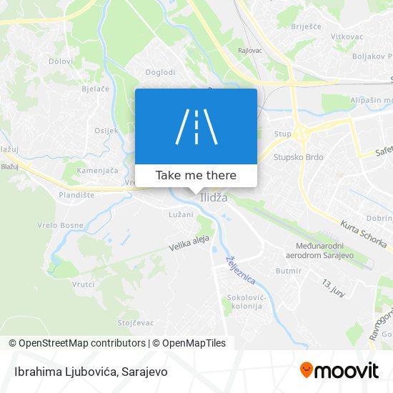 Ibrahima Ljubovića map