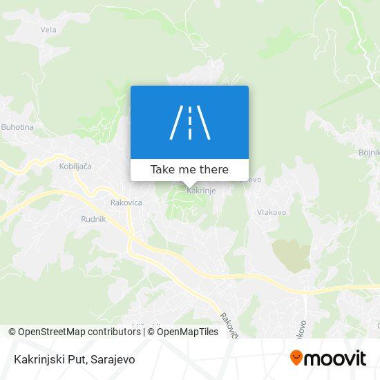 Kakrinjski Put map