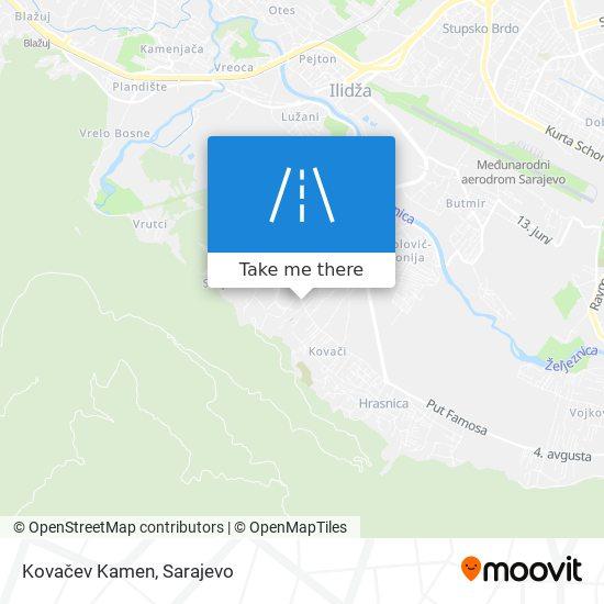 Kovačev Kamen map
