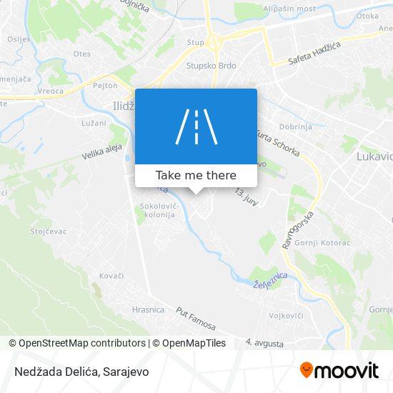 Nedžada Delića map
