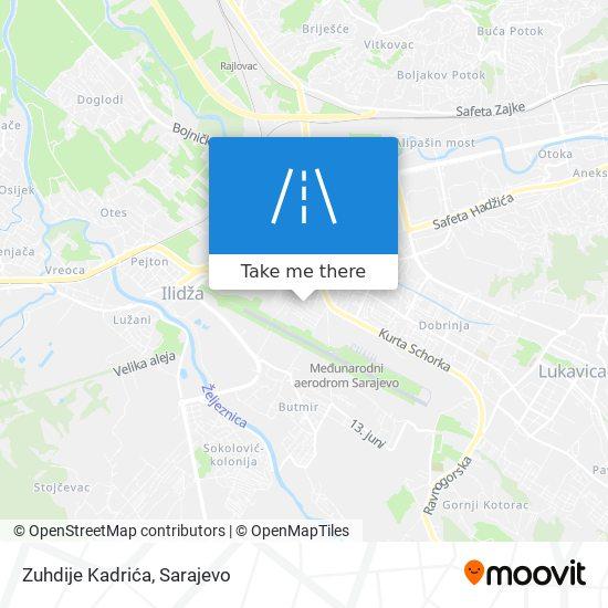 Zuhdije Kadrića map