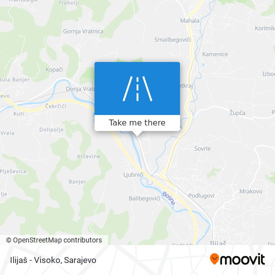 Ilijaš - Visoko map