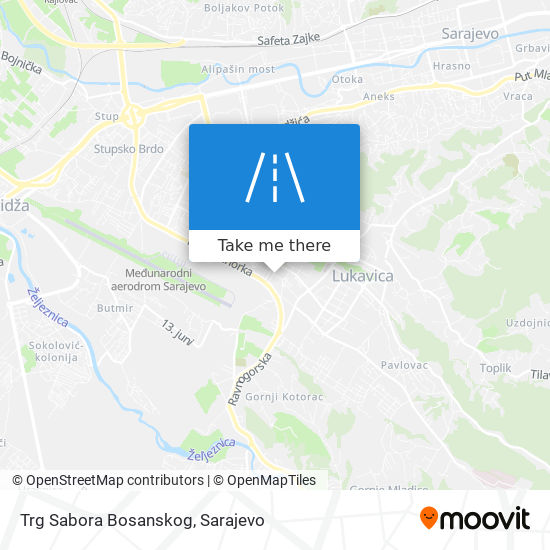 Trg Sabora Bosanskog map