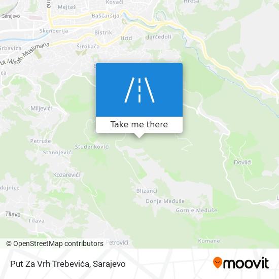 Put Za Vrh Trebevića map