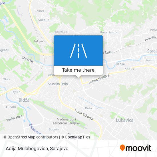 Adija Mulabegovića map