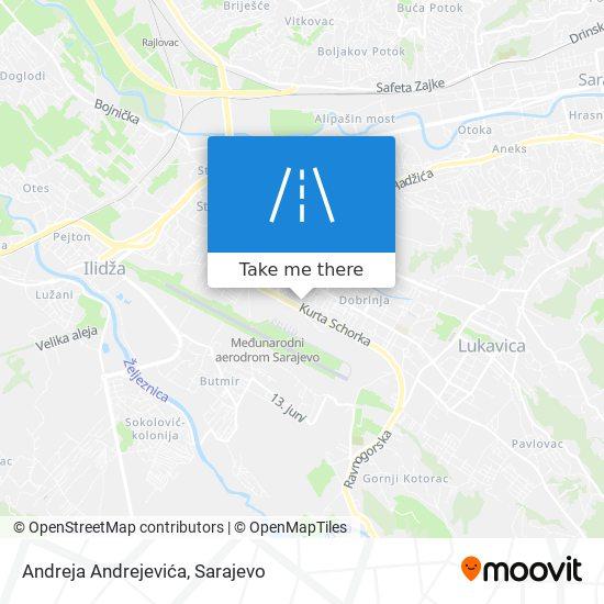 Andreja Andrejevića map