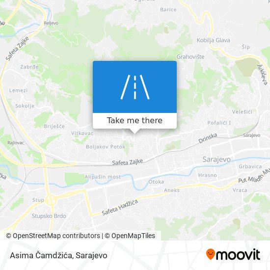 Asima Čamdžića map