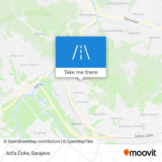Atifa Čoke map
