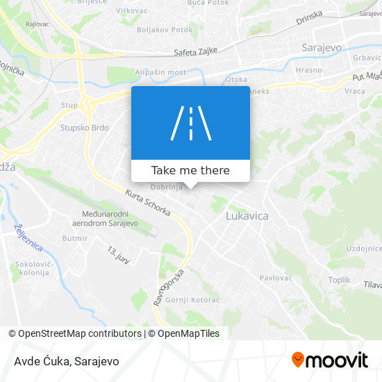 Avde Ćuka map