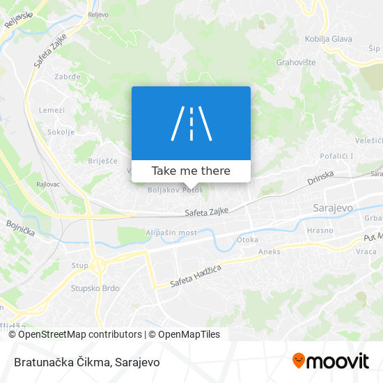 Bratunačka Čikma map