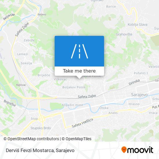 Derviš Fevzi Mostarca map