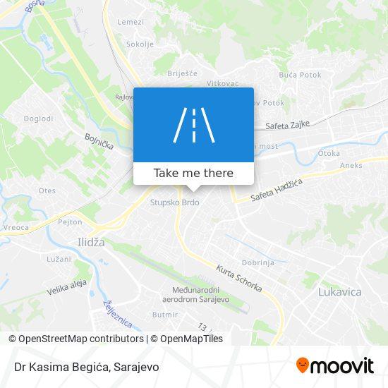 Dr Kasima Begića map