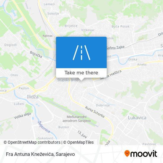 Fra Antuna Kneževića map