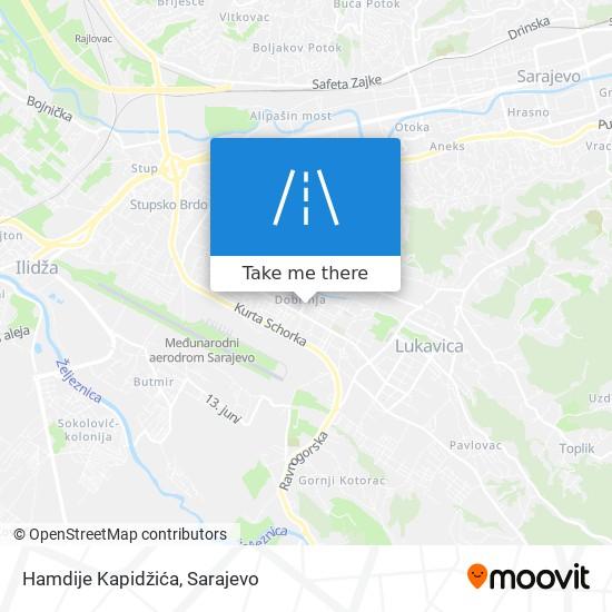Hamdije Kapidžića map