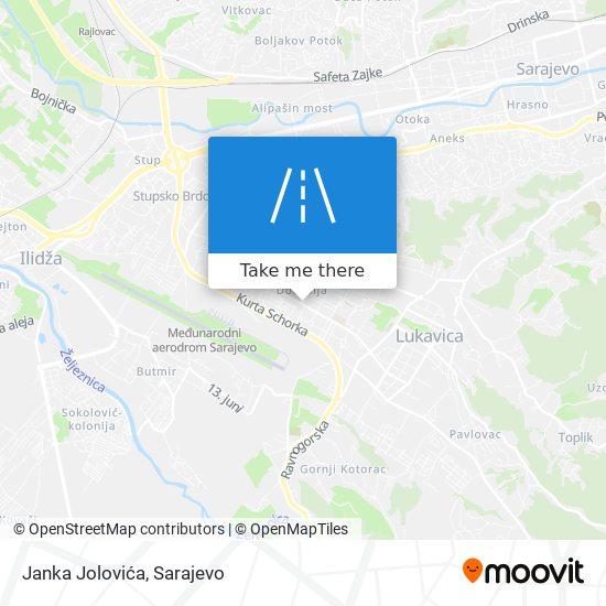Janka Jolovića map