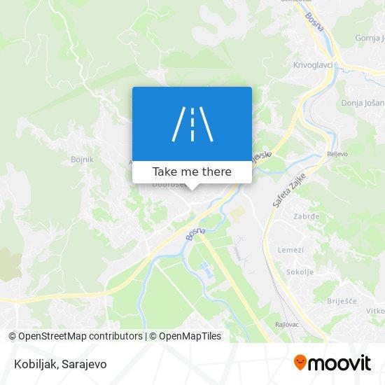 Kobiljak map