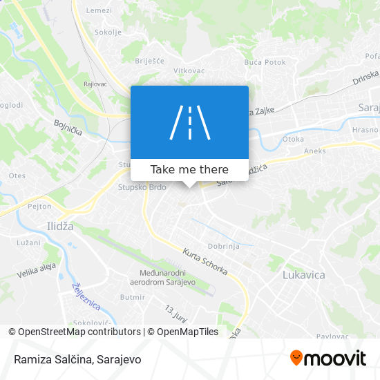 Ramiza Salčina map