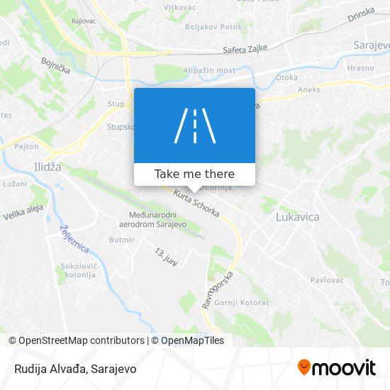 Rudija Alvađa map