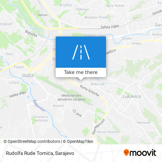 Rudolfa Rude Tomića map