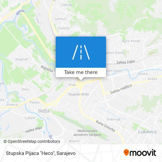 """Stupska Pijaca """"Heco"""" map"""