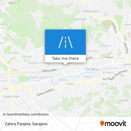 Zahira Panjete map
