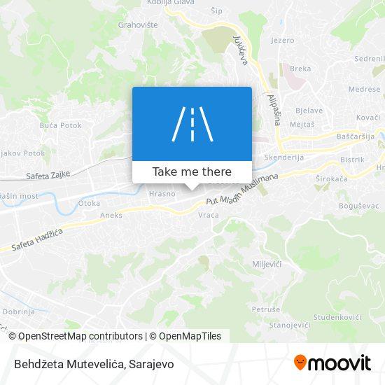 Behdžeta Mutevelića map