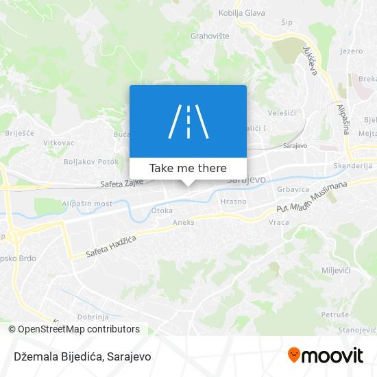 Džemala Bijedića map