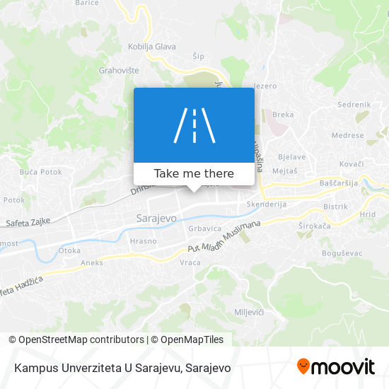 Kampus Unverziteta U Sarajevu map