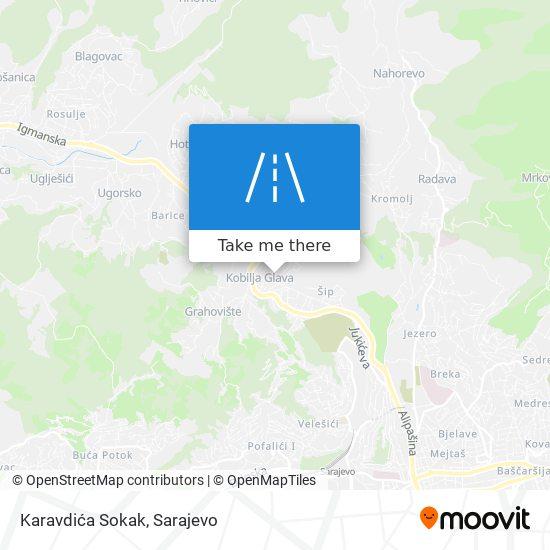 Karavdića Sokak map