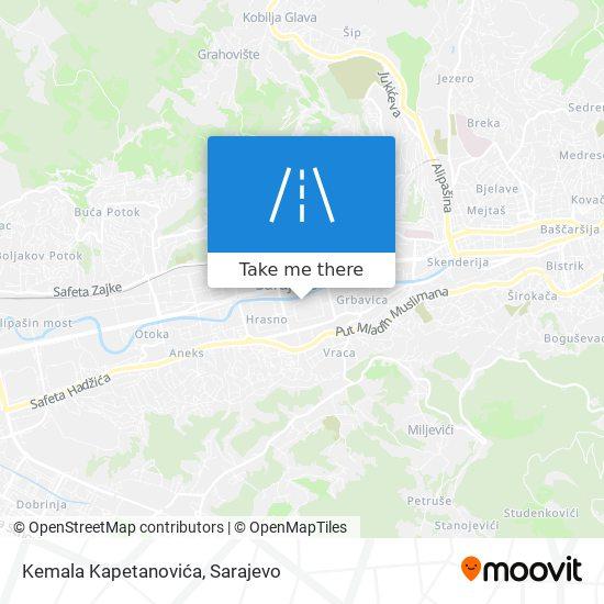 Kemala Kapetanovića map