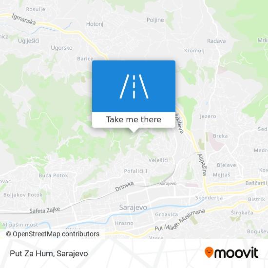 Put Za Hum map