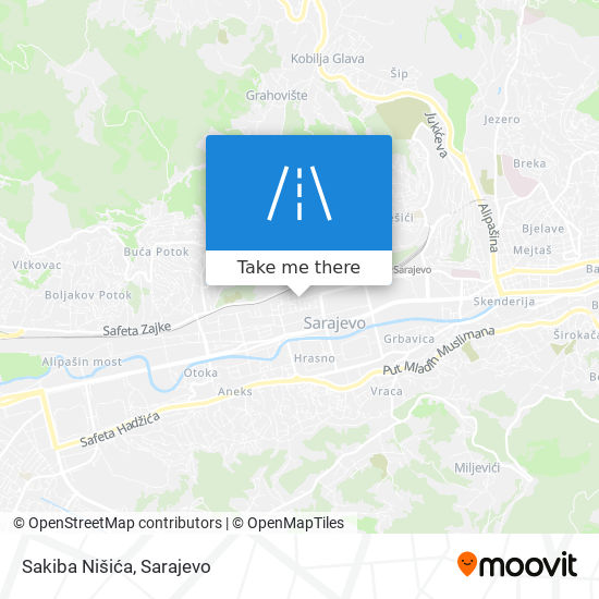 Sakiba Nišića map