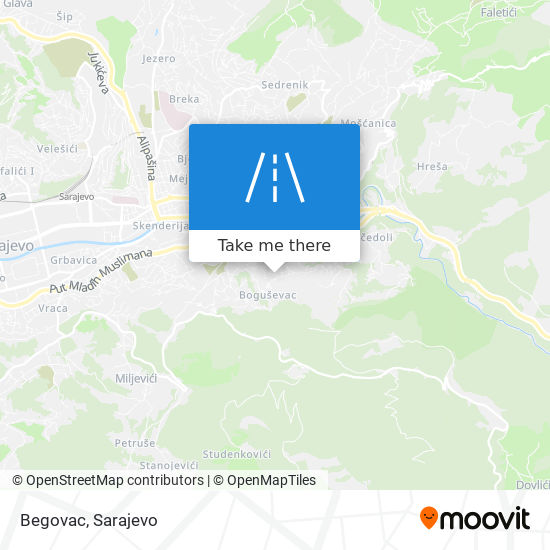 Begovac map