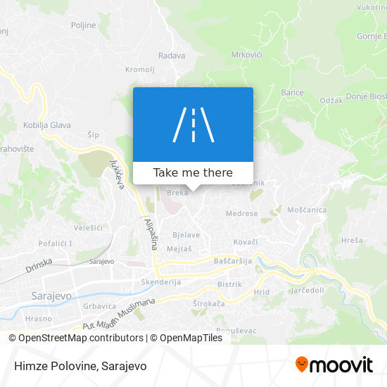 Himze Polovine map