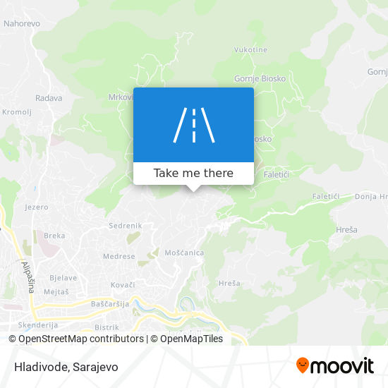 Hladivode map
