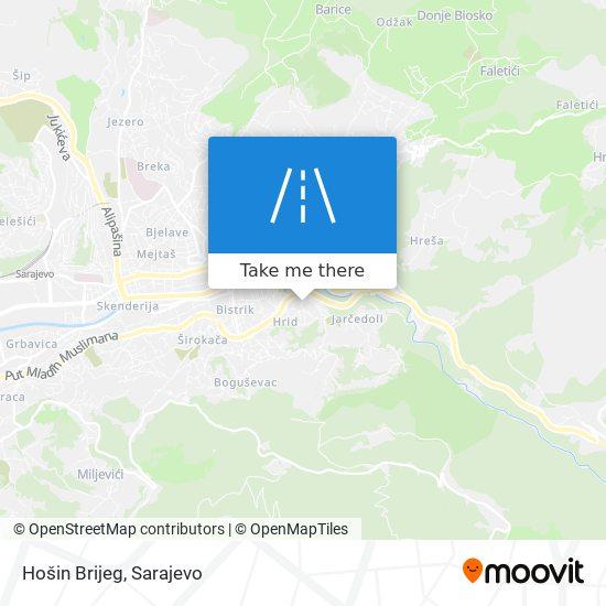 Hošin Brijeg map
