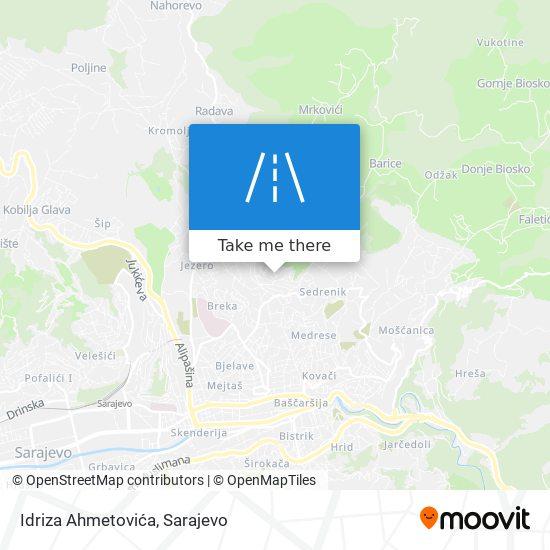 Idriza Ahmetovića map