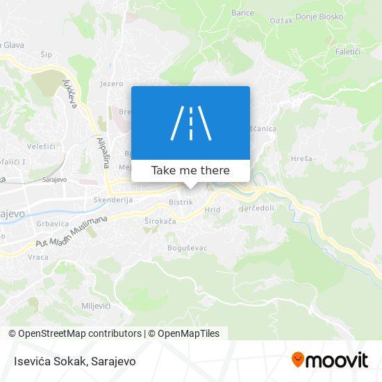 Isevića Sokak map