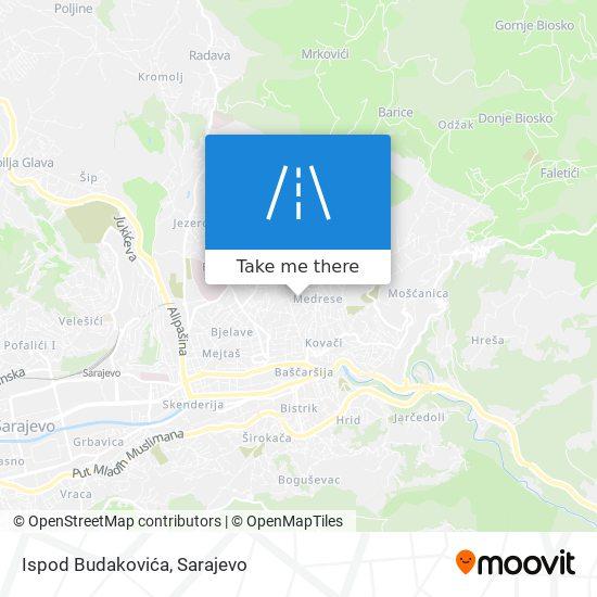 Ispod Budakovića map