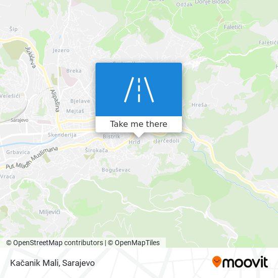 Kačanik Mali map