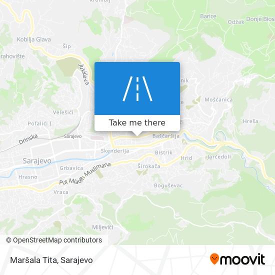 Maršala Tita map