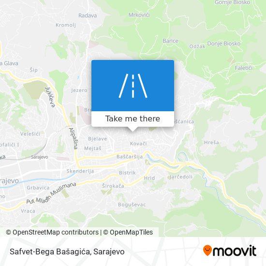 Safvet-Bega Bašagića map