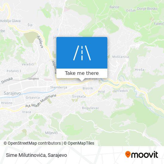 Sime Milutinovića map
