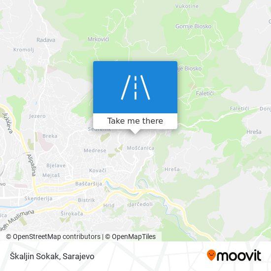 Škaljin Sokak map