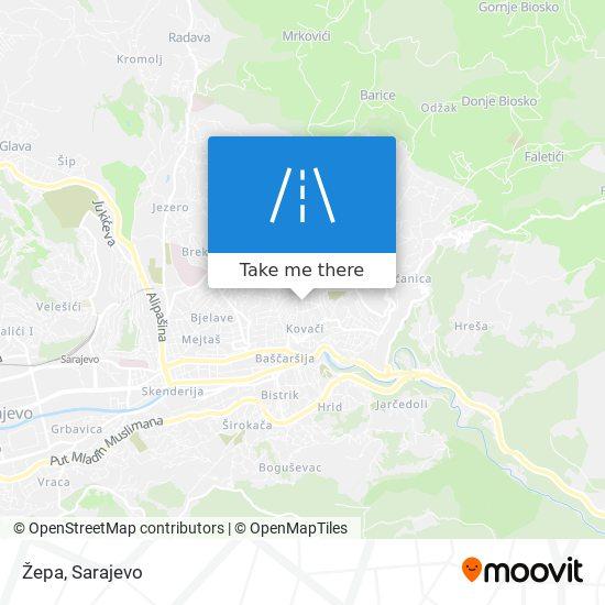 Žepa map