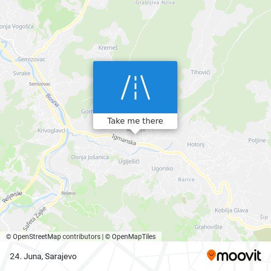 24. Juna map