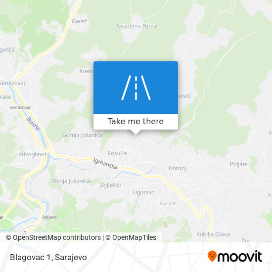 Blagovac 1 map