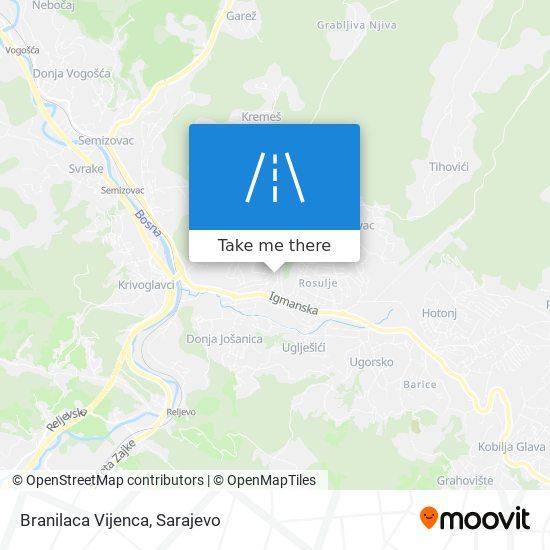 Branilaca Vijenca map